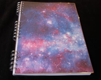 Star System Notebook, Constellation Print Notebook, Galaxy Print Notebook, Laminated Notebook, A4, Personalisation Possible