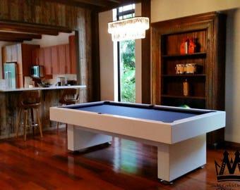 8ft Economy style pool table with Grey felt !