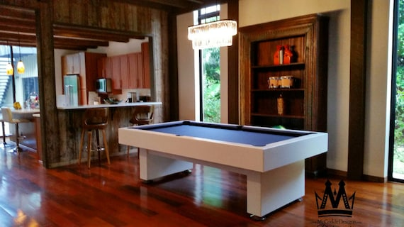 8ft Economy Style Pool Table With Grey Felt