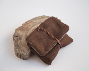 Tobacco Case, Tobacco Pouch, Tobacco Bag, Brown Tobacco Case, Brown Tobacco Pouch, Cigarette Bag, Cigarette Pouch, Cigarette Case