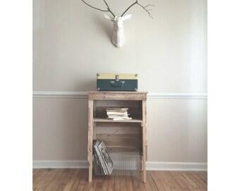 Reclaimed Storage Stand/ Record Player Storage Stand/ Vinyl Holder