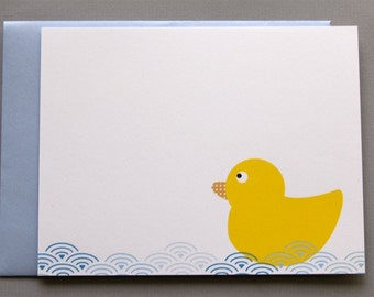 Yellow Duck A2 Flat Note Cards (Set of 10)
