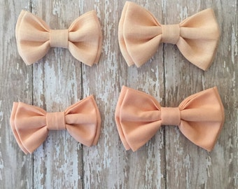 Solid Bowties/ Double Bowties/ Baby Bowties/ Toddler Bowties/ Adult Bowties/ Pink Bowties/ Light Peach Bow ties/ Peach Bow ties/ Peach