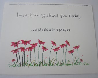 I Said a Little Prayer Greeting Card - Five Folded Cards with Envelopes