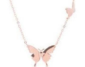 Butterflies Rose Gold necklace