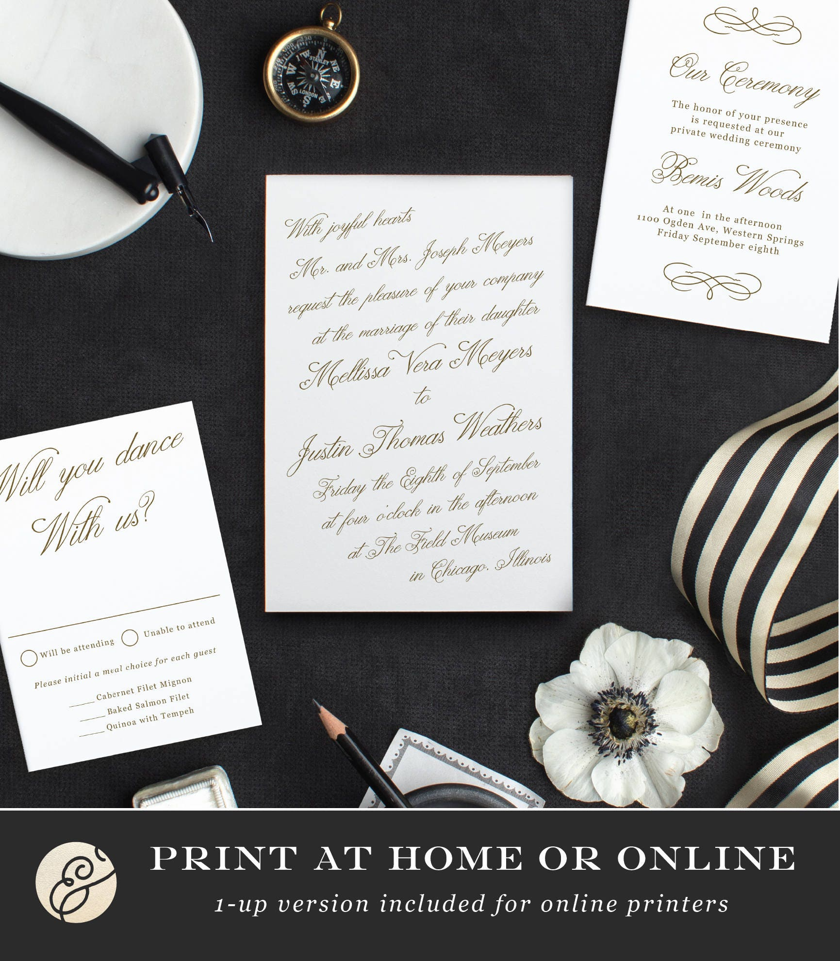 Printable Template | Design Your Own Wedding Invitation Template ...