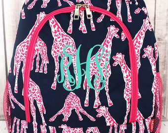 ON SALE - Originally 29.95 -  Large Backpack book bag Back to School supplies Lilly inspired whale WB boutique