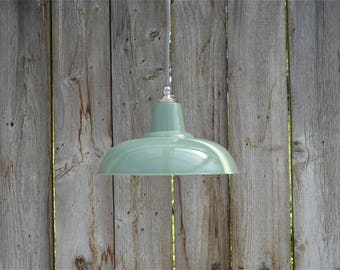 Retro style French green grey light pendant hanging lightshade lamp shade ceiling light FG1SR4
