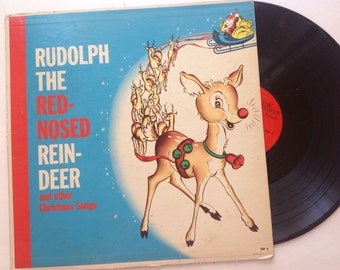 Rudolph the Red Nose Rheindeer Lp, Vintage Album, Premier Records