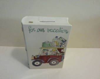 For Our Vacation - Ceramic Book Coin Bank