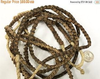 25% OFF Real Snake Vertebrae Bead Strands From Africa, 10mm x 9mm, 85 Vertera approx., Snake Bone Bead Strand - SnaVer