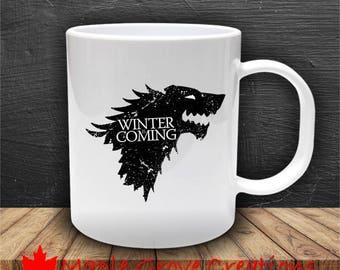 Game Of Thrones Winter Is Coming Mug - 11 oz ceramic coffee mug