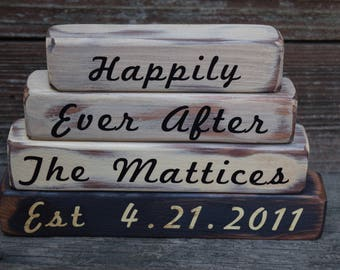 Happily Ever after Vintage Wedding, Bridal Shower, Anniversary Customized Gift