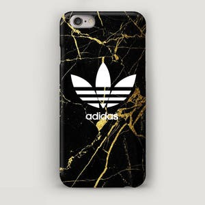 Black Marble iPhone 6S Case Adidas, iPhone 7 Plus Case, Black iPhone Case,
