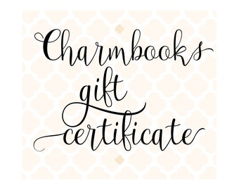 Charmbooks Gift Certificate | Last Minute Gift | Christmas Gift | Printable Gift | Gift Voucher | Personalized Gift Idea | Gift Card