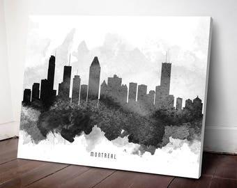 Montreal Skyline Canvas Print, Montreal Art, Montreal Wall decor, Montreal Cityscape, Home Decor, Gift Idea, CAQCMO11C