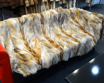 Red Fox Fur Blanket, Fur Throws F780