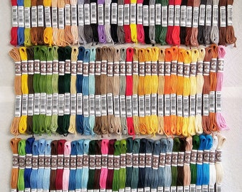 DMC Full Set 5-Strand Soft Matte Cotton Thread 10.9yd, 100 Colors
