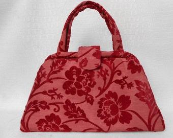 Structured Handbag - Scarlet Red
