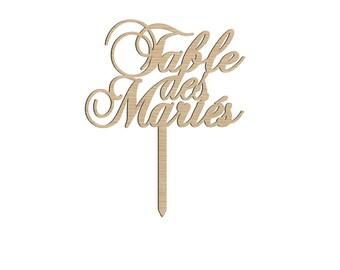 Cake topper - Table des Mariés -