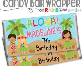 CBW-058: DIY -  Luau 2 Candy Bar Wrapper