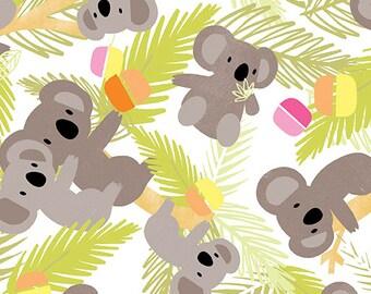 Koala & Panda Bears Cotton Fabric! 2 Options [Choose Your Cut Size]