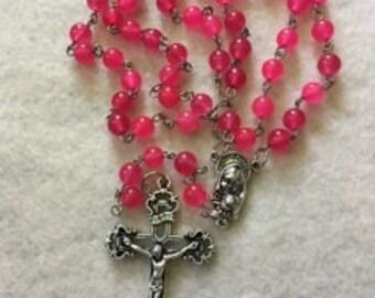 Rose Quartzite Rosary