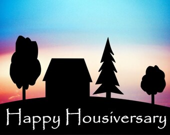 Happy Housiversary Cards - Realtors 1 Year House Anniversary Cards 20 pack with Envelopes