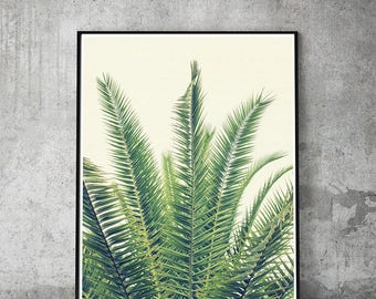 Palm,leaf,wall art,palm leaves,print,tropical,botanical,palm tree,decor,palm leaf,printable,natural,tree,green,vacation,instant download