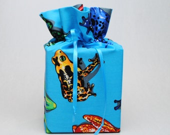 Blue Tissue Box Cover Frogs Kleenex Box Cover Toads Kleenex Box Holder Frog Tissue Box Holder Bathroom Accessories Bathroom Decoration