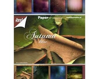 Block of 32 paper 15 x 21 cm CRAFTS AUTUMN JOY