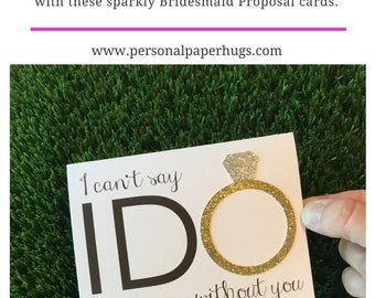 Will you be my Bridesmaid Card for Bridesmaid / I can't say I do without you / Bridal Party Card / Bridesmaid Proposal Card Maid of Honor