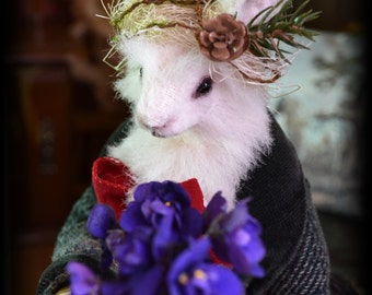March Hare, Mad March Hare, Art Doll Animals, Anthro Rabbit, Anthropomorphic Hare, Handmade art doll, OOAK, interior doll