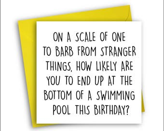 Stranger Things Card | Barb Holland | Birthday