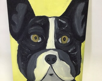 Original oil painting of French Bulldog