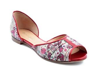 Ballerina open toe Liberty - Red