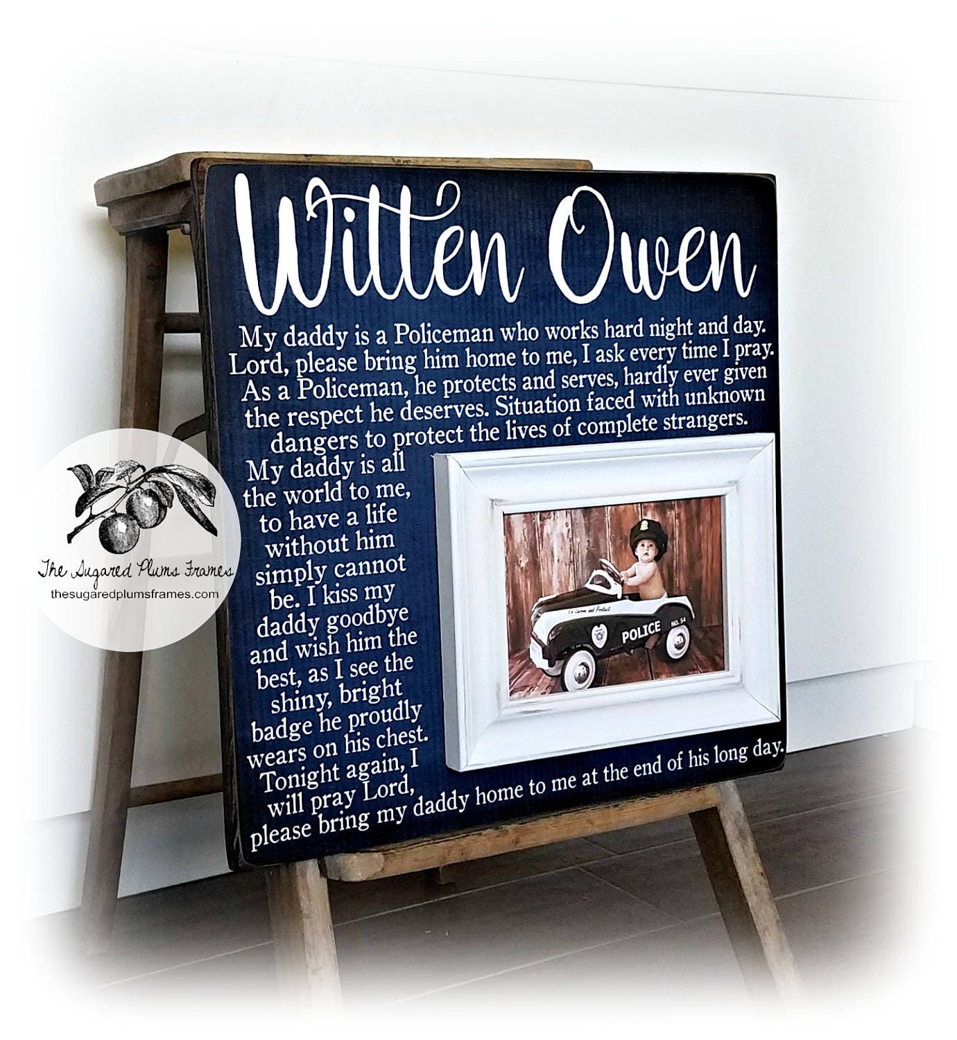 Fathers Day Gift, Police Officer Gifts, Police Baby Frame, Fathers ...
