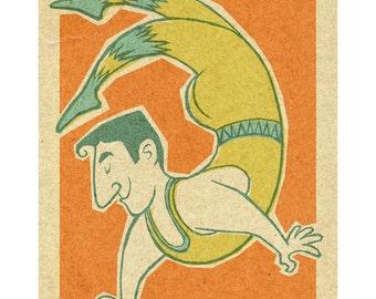 Circus Acrobat, 8.5x11 print