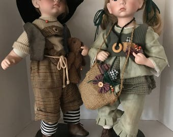 Hansel and Gretel Set storybook character dolls ***20 inches high***