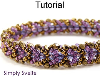 Beaded Bracelet Patterns - Flat Spiral Stitch Jewelry Making - Easy Beginner Instructions - Simple Bead Patterns - Simply Svelte #4511