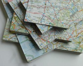 Origami-Papier MAP Landkarte 20 Blatt 15x15cm Recycling