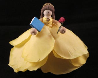Belle clothespin doll