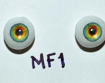 Hand Made Glass Like Eyes 5mm - Fairy MF1- for OOAK Art -Dolls