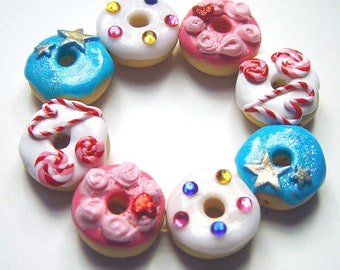 Frosted donut bracelet, OOAK, original, Katy Perry