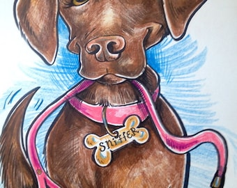 Customizable Pet Caricature