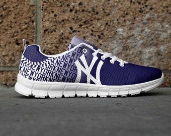New York 2 Baseball Generation 2 Custom Fan Made Mesh Running/Athletic Shoes