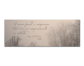 Photo Bookmark Trees | Henry David Thoreau Walden Quote | Solitude | Companionable | Reader Writer Book Lover | Literature | Winter