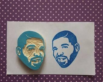Drake Rubber Stamp- the 6ix, degrassi, portrait