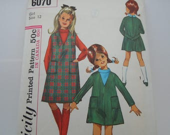 Simplicity 6070 Sewing Pattern Vintage Girl's