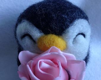 Penguin Ooak Soft Sculpture Gift